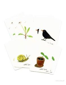 Tuin Dieren - Setje van 8 minikaarten