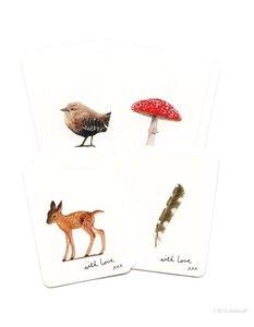 Bos Dieren - Setje van 8 minikaarten