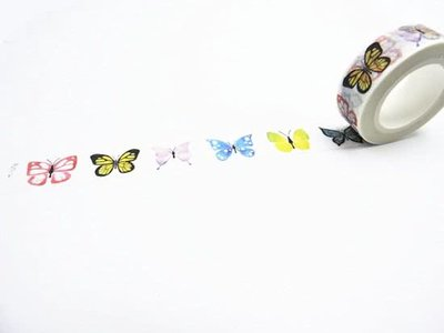 Washi Tape Vlinders Multicolor - 10M
