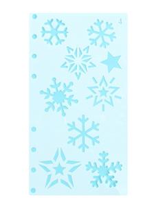 Stencil Sneeuwvlokken en Sterren