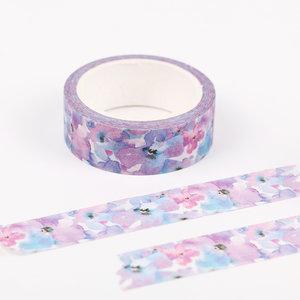 Masking Tape Lila Paarse Bloempjes Washi - 7M