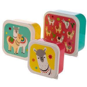 Set van 3 lunchtrommels - Lama